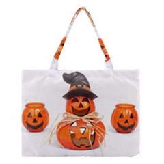 Funny Halloween Pumpkins Medium Tote Bag by gothicandhalloweenstore