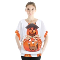 Funny Halloween Pumpkins Blouse by gothicandhalloweenstore
