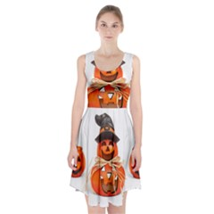 Funny Halloween Pumpkins Racerback Midi Dress by gothicandhalloweenstore