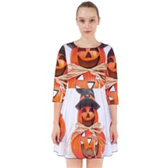 Funny Halloween Pumpkins Smock Dress by gothicandhalloweenstore