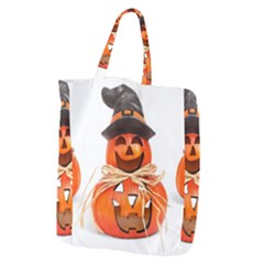 Funny Halloween Pumpkins Giant Grocery Zipper Tote by gothicandhalloweenstore