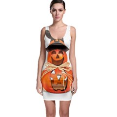 Funny Halloween Pumpkins Bodycon Dress by gothicandhalloweenstore