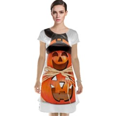 Funny Halloween Pumpkins Cap Sleeve Nightdress by gothicandhalloweenstore