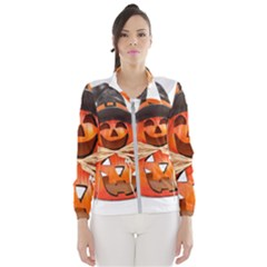 Funny Halloween Pumpkins Wind Breaker (women) by gothicandhalloweenstore