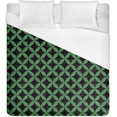 Circles3 Black Marble & Green Denim (r) Duvet Cover (king Size) by trendistuff