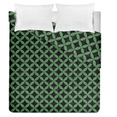 Circles3 Black Marble & Green Denim (r) Duvet Cover Double Side (queen Size) by trendistuff