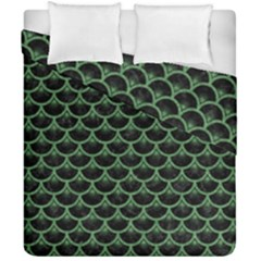 Scales3 Black Marble & Green Denim (r) Duvet Cover Double Side (california King Size) by trendistuff