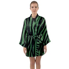 Skin3 Black Marble & Green Denim (r) Long Sleeve Kimono Robe by trendistuff