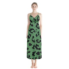 Skin5 Black Marble & Green Denim (r) Button Up Chiffon Maxi Dress by trendistuff