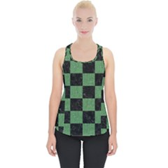 Square1 Black Marble & Green Denim Piece Up Tank Top by trendistuff