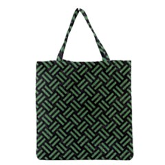 Woven2 Black Marble & Green Denim (r) Grocery Tote Bag by trendistuff