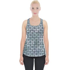Brick1 Black Marble & Ice Crystals Piece Up Tank Top