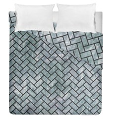 Brick2 Black Marble & Ice Crystals Duvet Cover Double Side (queen Size) by trendistuff