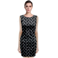 Brick2 Black Marble & Ice Crystals (r) Classic Sleeveless Midi Dress