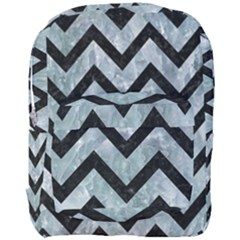 Chevron9 Black Marble & Ice Crystals Full Print Backpack by trendistuff