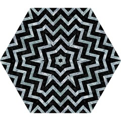 Chevron9 Black Marble & Ice Crystals (r) Mini Folding Umbrellas by trendistuff