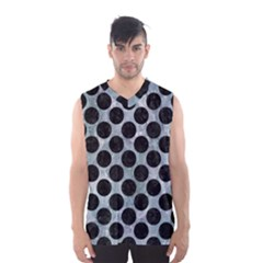 Circles2 Black Marble & Ice Crystals Men s Basketball Tank Top by trendistuff
