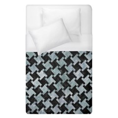 Houndstooth2 Black Marble & Ice Crystals Duvet Cover (single Size)