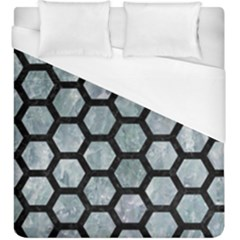 Hexagon2 Black Marble & Ice Crystals Duvet Cover (king Size) by trendistuff