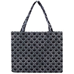 Scales2 Black Marble & Ice Crystals (r) Mini Tote Bag by trendistuff