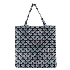 Scales3 Black Marble & Ice Crystals Grocery Tote Bag by trendistuff