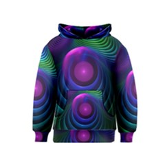Beautiful Rainbow Marble Fractals In Hyperspace Kids  Pullover Hoodie by jayaprime