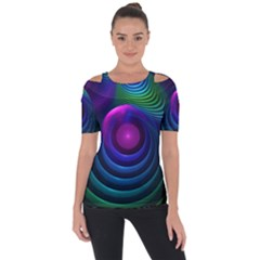 Beautiful Rainbow Marble Fractals In Hyperspace Short Sleeve Top by jayaprime