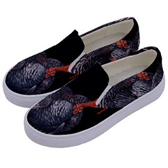 Thanksgiving Turkey Kids  Canvas Slip Ons by Valentinaart