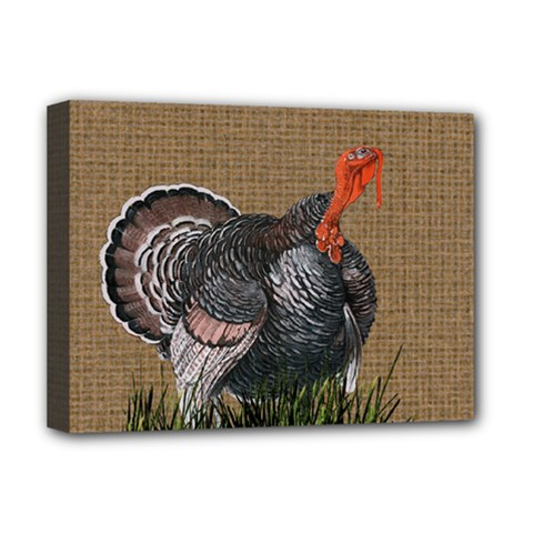 Thanksgiving Turkey Deluxe Canvas 16  X 12