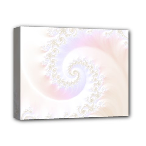 Mother Of Pearls Luxurious Fractal Spiral Necklace Deluxe Canvas 14  X 11  by jayaprime