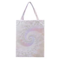 Mother Of Pearls Luxurious Fractal Spiral Necklace Classic Tote Bag by jayaprime