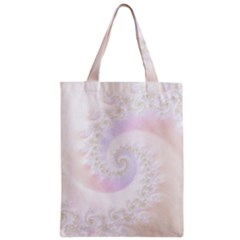 Mother Of Pearls Luxurious Fractal Spiral Necklace Zipper Classic Tote Bag by jayaprime