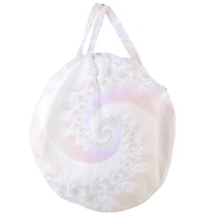 Mother Of Pearls Luxurious Fractal Spiral Necklace Giant Round Zipper Tote by jayaprime