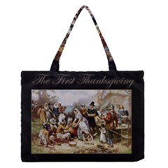 The First Thanksgiving Zipper Medium Tote Bag by Valentinaart