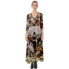 The First Thanksgiving Button Up Boho Maxi Dress