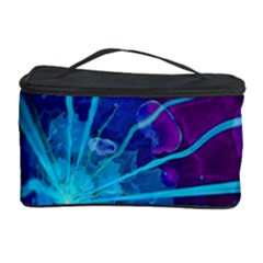 Beautiful Bioluminescent Sea Anemone Fractalflower Cosmetic Storage Case by jayaprime