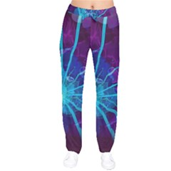 Beautiful Bioluminescent Sea Anemone Fractalflower Drawstring Pants