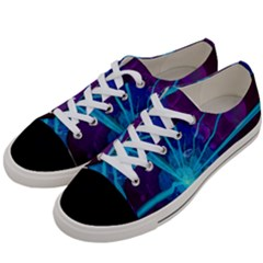 Beautiful Bioluminescent Sea Anemone Fractalflower Women s Low Top Canvas Sneakers by jayaprime