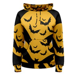 Bats Moon Night Halloween Black Women s Pullover Hoodie