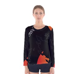 Castil Witch Hlloween Sinister Night Home Bats Women s Long Sleeve Tee by Alisyart