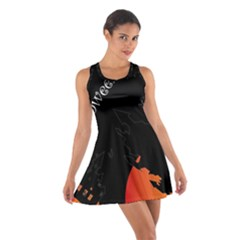 Castil Witch Hlloween Sinister Night Home Bats Cotton Racerback Dress