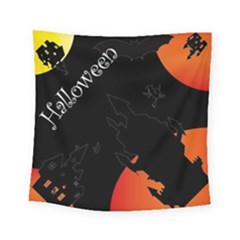 Castil Witch Hlloween Sinister Night Home Bats Square Tapestry (small) by Alisyart