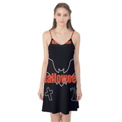 Halloween Bat Black Night Sinister Ghost Camis Nightgown by Alisyart