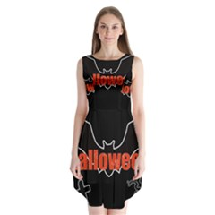 Halloween Bat Black Night Sinister Ghost Sleeveless Chiffon Dress