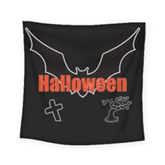 Halloween Bat Black Night Sinister Ghost Square Tapestry (small)