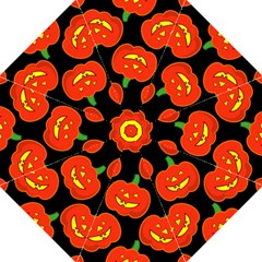 Halloween Party Pumpkins Face Smile Ghost Orange Black Folding Umbrellas by Alisyart