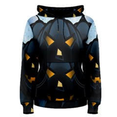 Halloween Pumpkin Dark Face Mask Smile Ghost Night Women s Pullover Hoodie