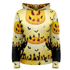 Halloween Pumpkin Bat Party Night Ghost Women s Pullover Hoodie