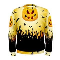Halloween Pumpkin Bat Party Night Ghost Men s Sweatshirt by Alisyart
