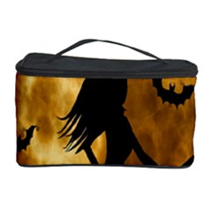 Halloween Wicked Witch Bat Moon Night Cosmetic Storage Case by Alisyart